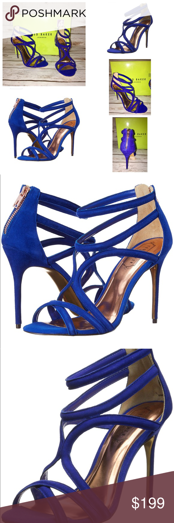 1a81204ee1b Ted Baker of London 8.5M Ninof Gladiator Sandal NWT Ted Baker Royal Blue  Suede Gladiator