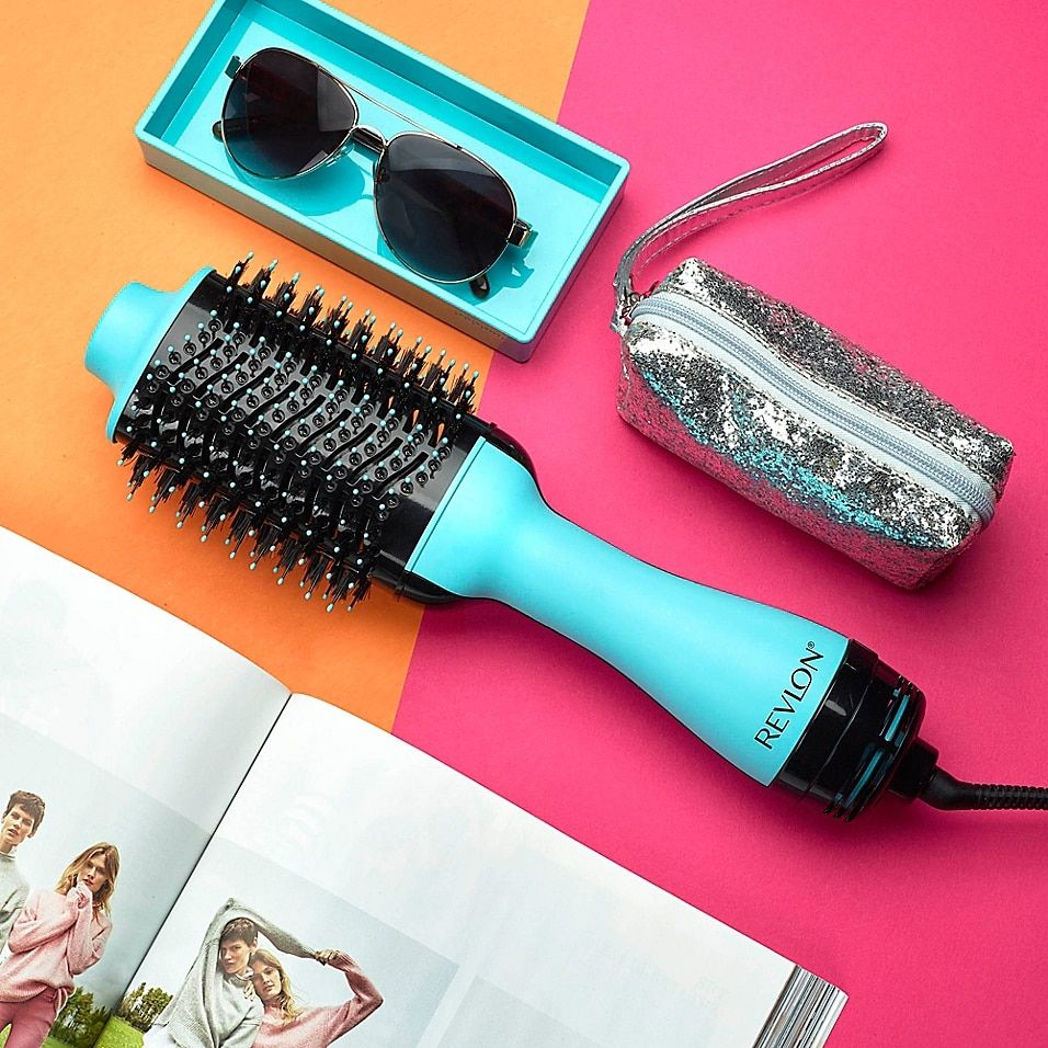 Revlon Pro Collection Salon One Step Hair Dryer And Volumizer Brush In Mint - Style faster with the Revlon Pro Collection Salon One-Step Hair Dryer and Volumizer. Ceramic coating helps prevent heat damage while tangle free combination bristles of the brush help detangle and improve volume for silky-smooth results.