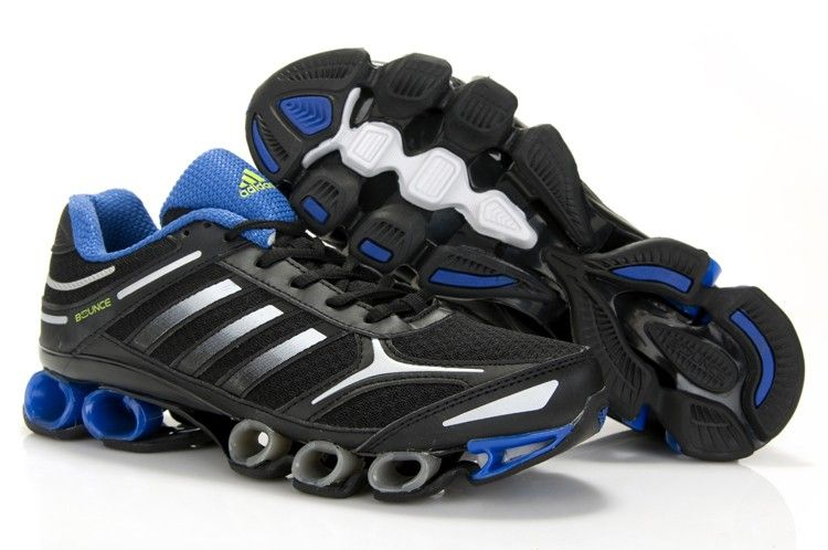 Adidas Bounce Mens Black Silver Blue Running Shoes adidas online shop  Regular Price: $189.00 Special