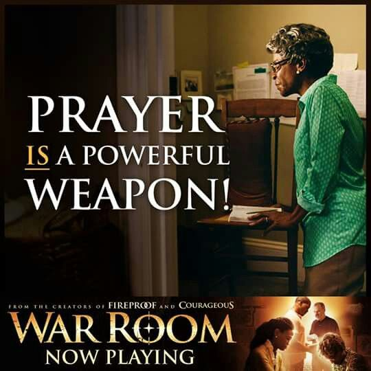 Prayer is a powerful weapon #WarRoom