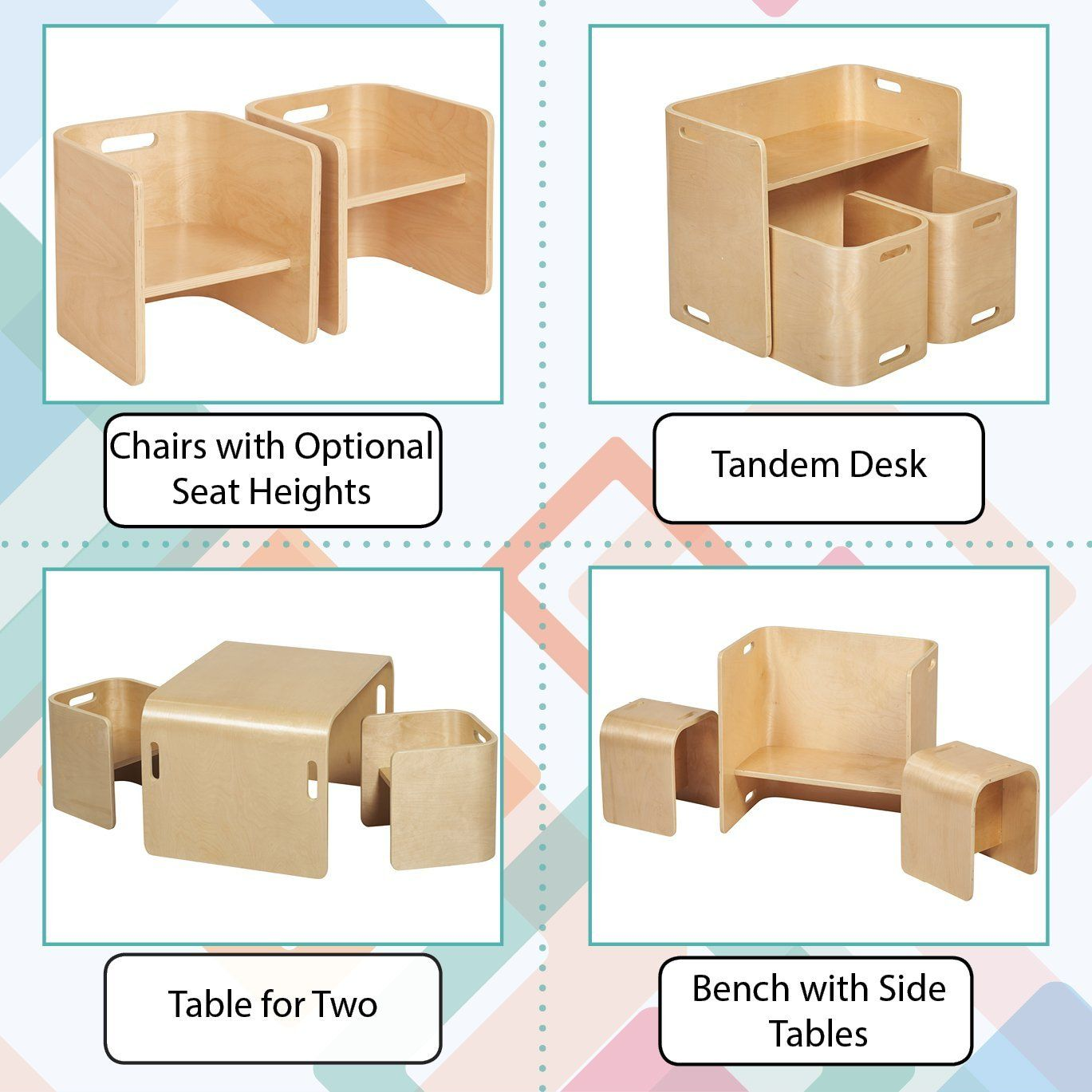 Outstanding Amazon Com Ecr4Kids Natural Bentwood Multipurpose Kids Gmtry Best Dining Table And Chair Ideas Images Gmtryco