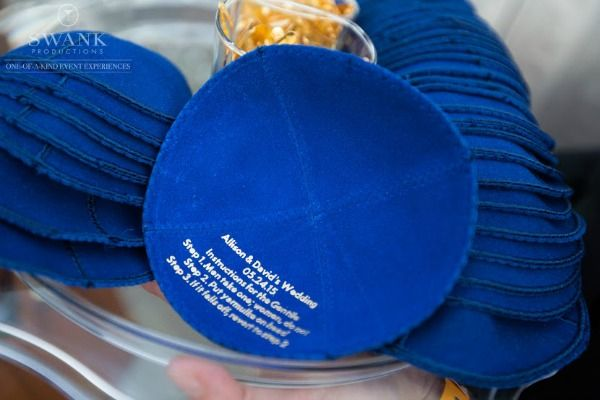Wedding Yarmulkes Kippot With Instructions Planning Design S Productions Photography 5th Ave Digital Mazelmoments
