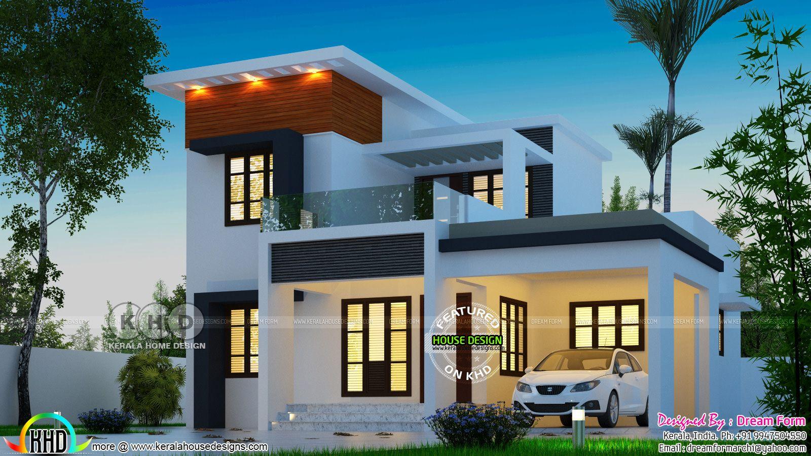 4 Bedroom Modern Beautiful Home Architecture 1628 Sq Ft Architecture House Modern Bedroom Kerala House Design
