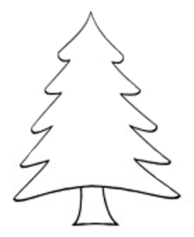 Free Christmas Tree Template Free Christmas Card Ideas Grab Our Christmas Tree Template Tree Outline Christmas Tree Outline