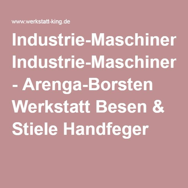 Industrie Maschinenfeger Arenga Borsten Werkstatt Besen Stiele