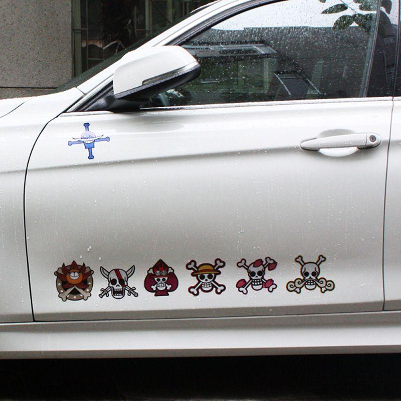 One Piece Luffy Pirates Logo Car Bike Decal Sticker Notebook