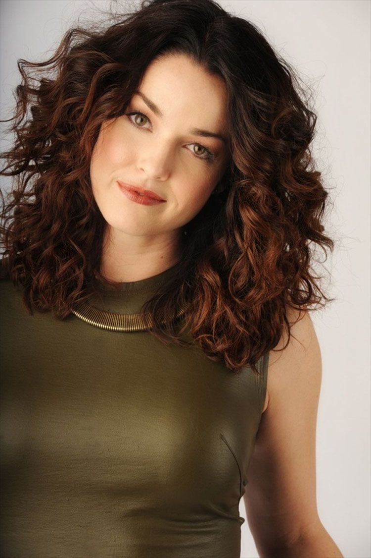 Medium length curly hairstyles for thick hair hair pinterest