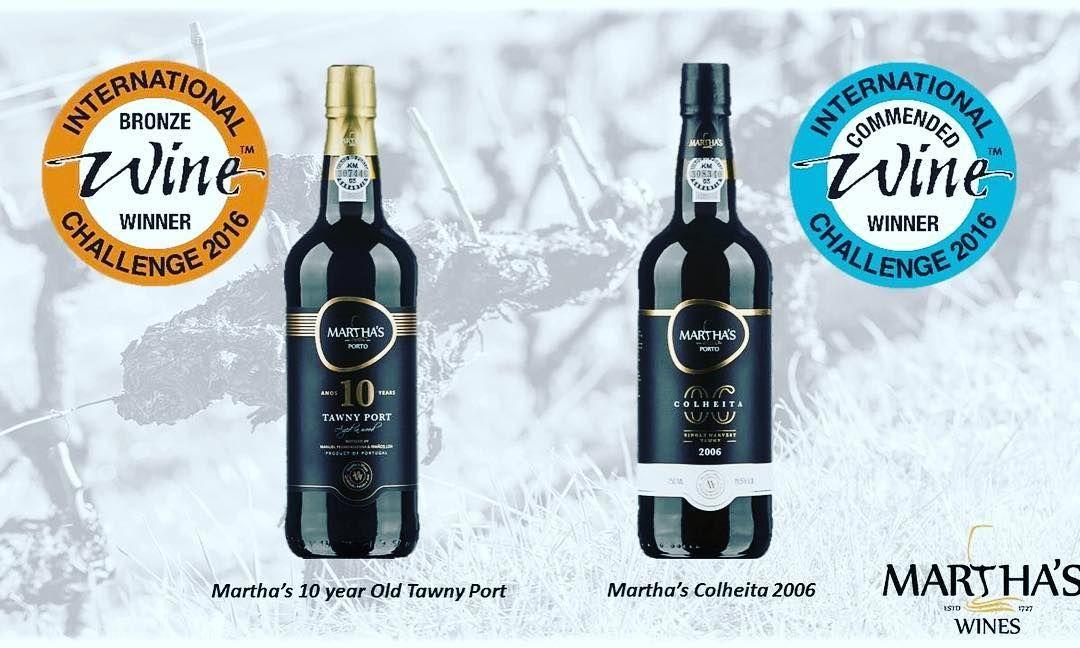 💥✨Martha's Wines awarded with 2 medals by the prestigious International Wine Challenge #iwc2016 #portwine #marthascolheita #spreadingtheloveforport