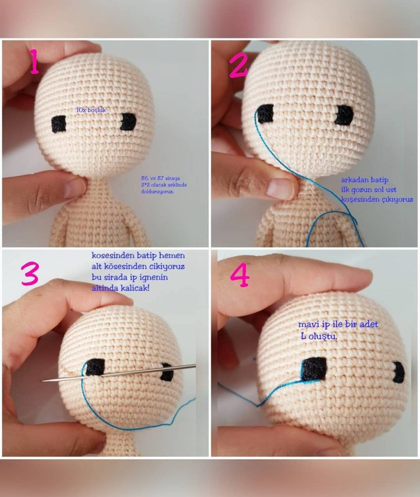 Amigurumi Lilly Doll with Bunny Hat Free Crochet Pattern in 2020 ... | 1024x867