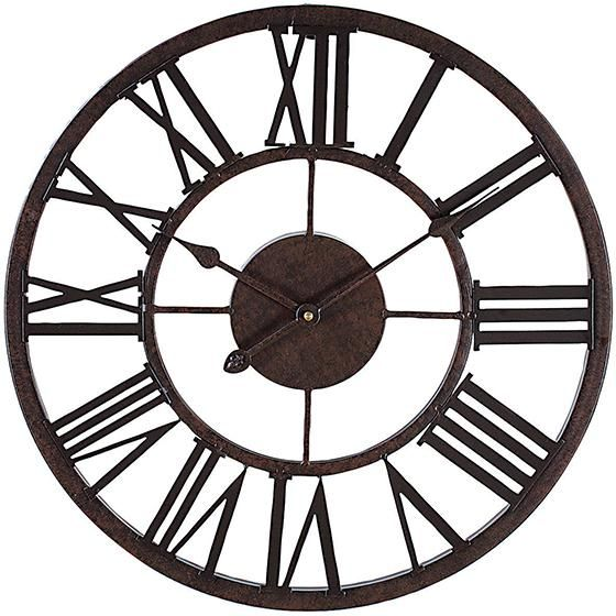 Grayson 17 In Diameter Round Metal Wall Clock In 2019