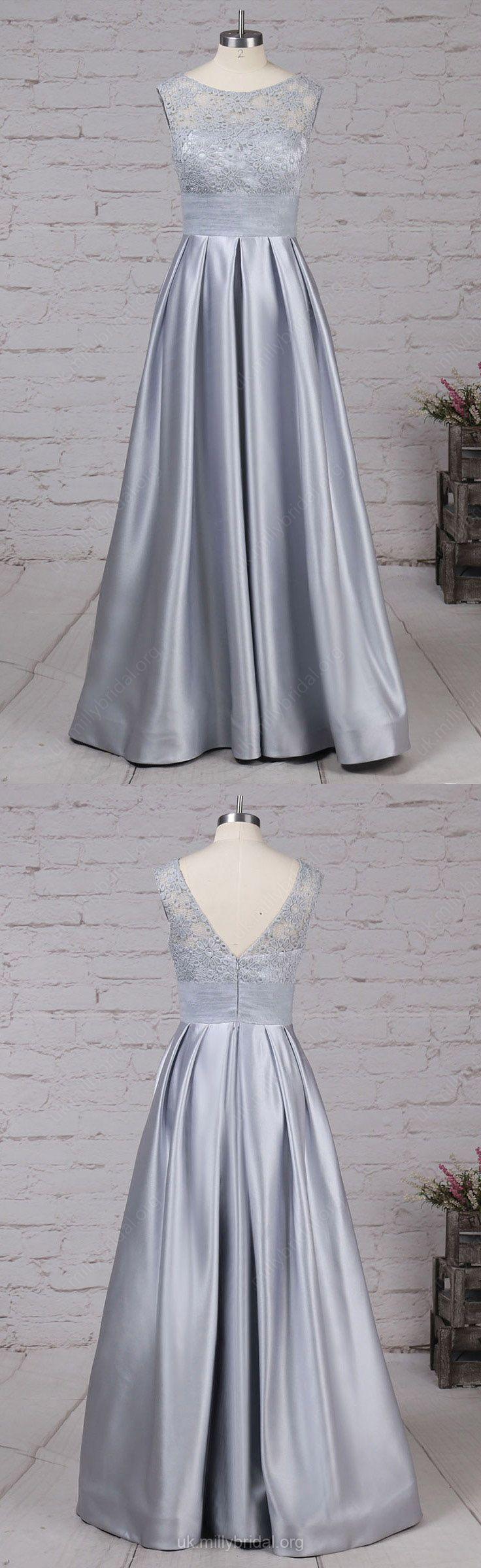 Lace prom dressessilver prom dresseslong prom dressessatin prom