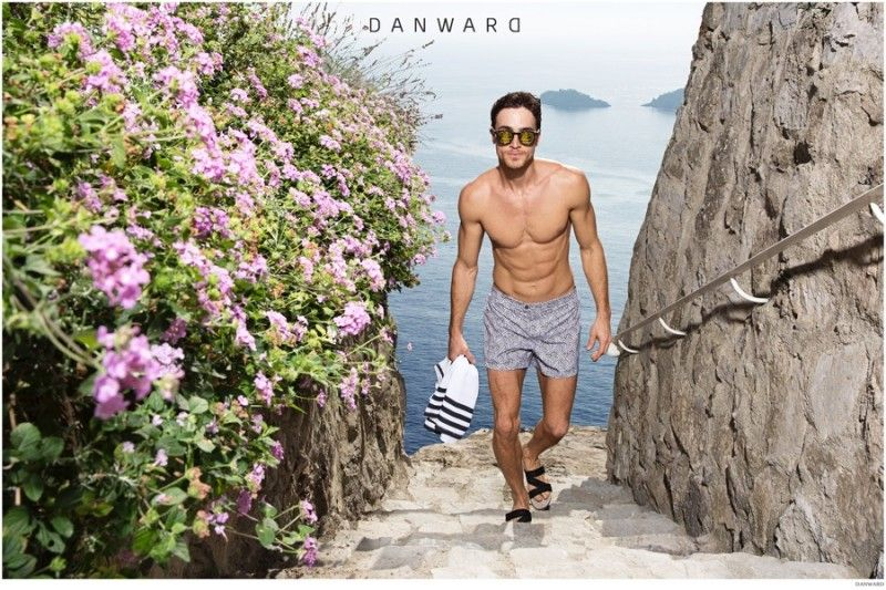 Celso Carvalho Models Swimwear for DANWARD Cruise 2015 Campaign