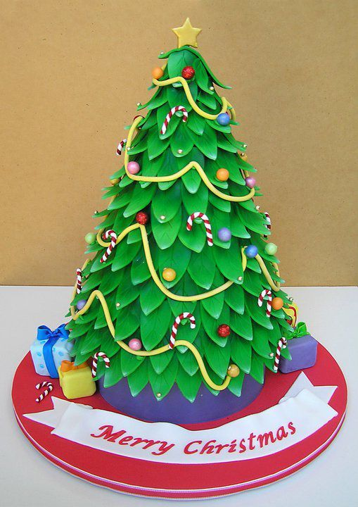Christmas Tree Cake Christmas Cake Decoration Christmas Tree