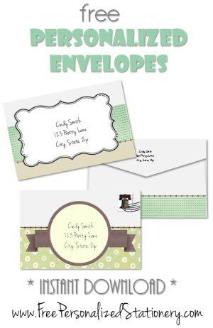 Personalized stationery and its actually free! You can print it at - free online stationery templates