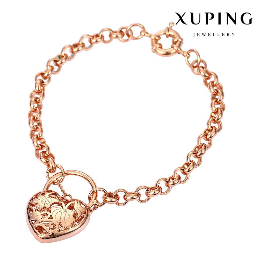 Xuping Fashion Bracelet New Arrival Elegant Women Heart Bracelets