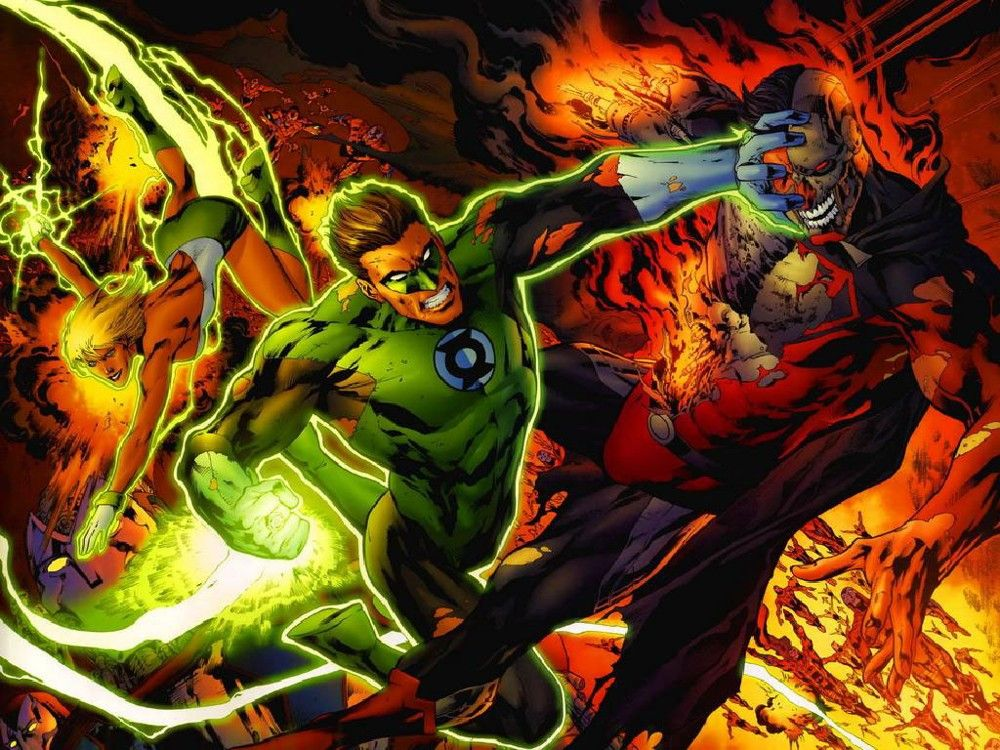 Superman vs Green Lantern Green lantern, Green