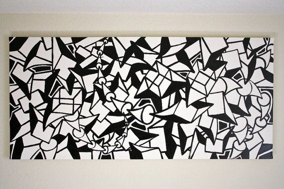 Original Black And White Abstract Contemporary Minimalism Fine Etsy Street Art Abstract Black And White Abstract Black and white abstract drawings