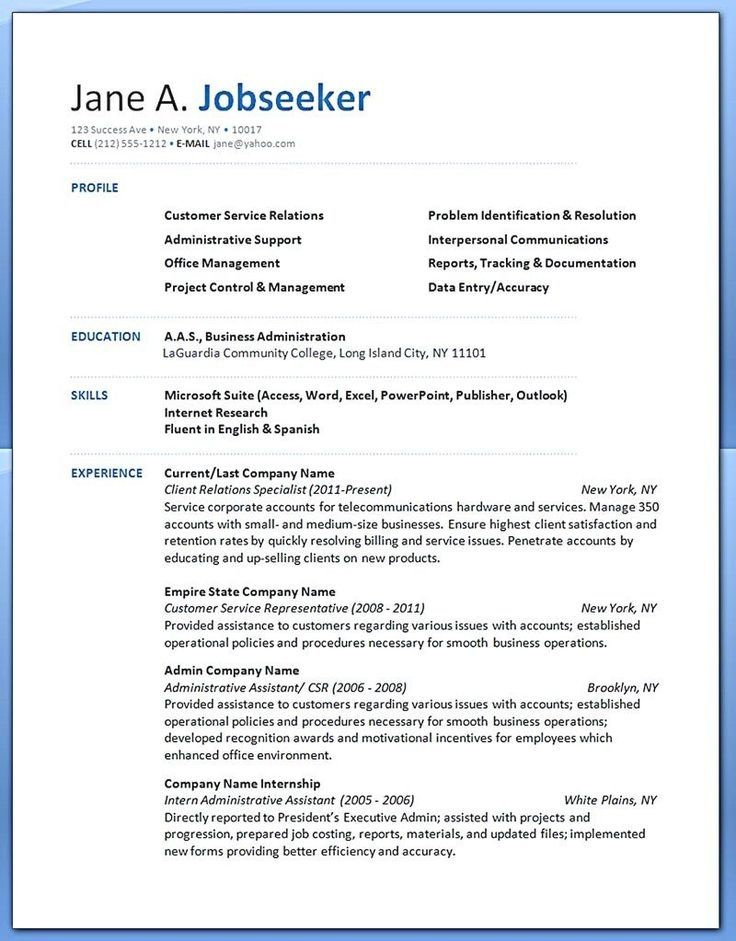 Pin by Fleta Mountain Resume Tips on Resume Examples