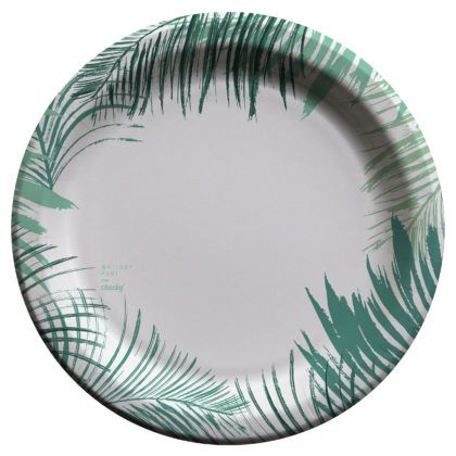 "Cheeky | Whitney Port for Cheeky® 10"" Paper Plates - Palm Edge"