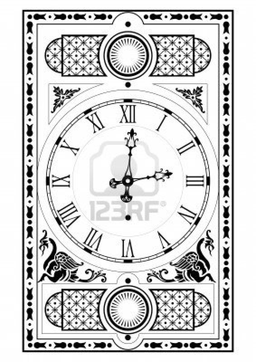 elegant victorian clock face and hands with decorative elements Stock Photo - 1934504