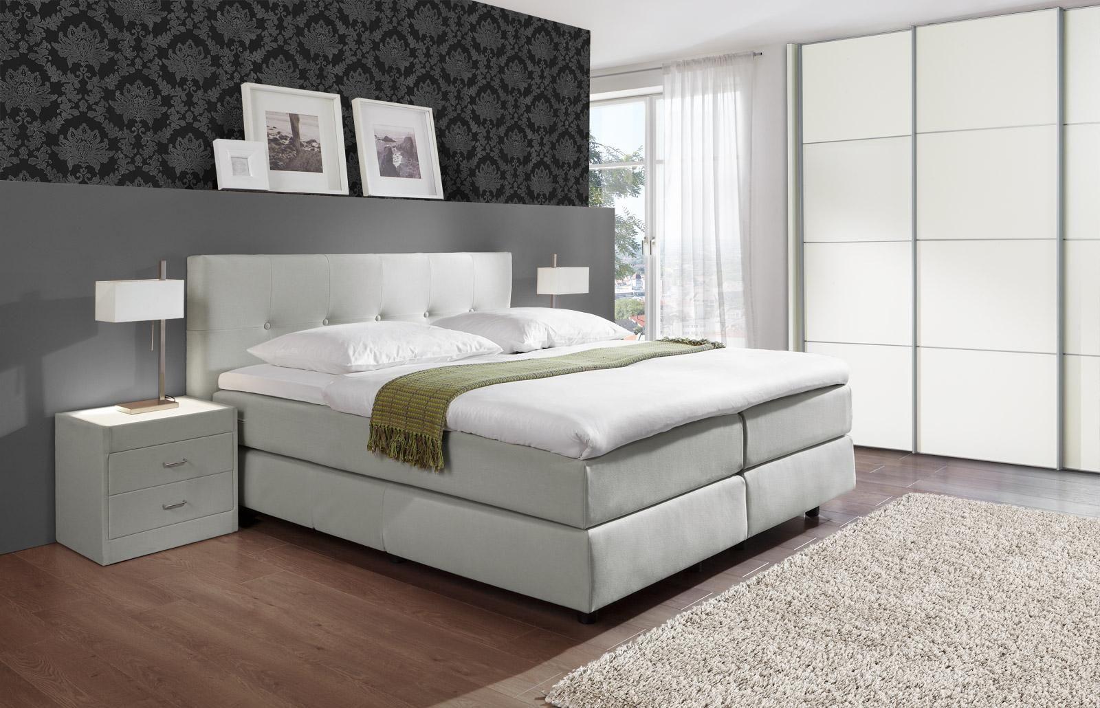 genial boxspringbett komplett schlafzimmer | deutsche deko | pinterest - Schlafzimmer Mit Boxspringbett