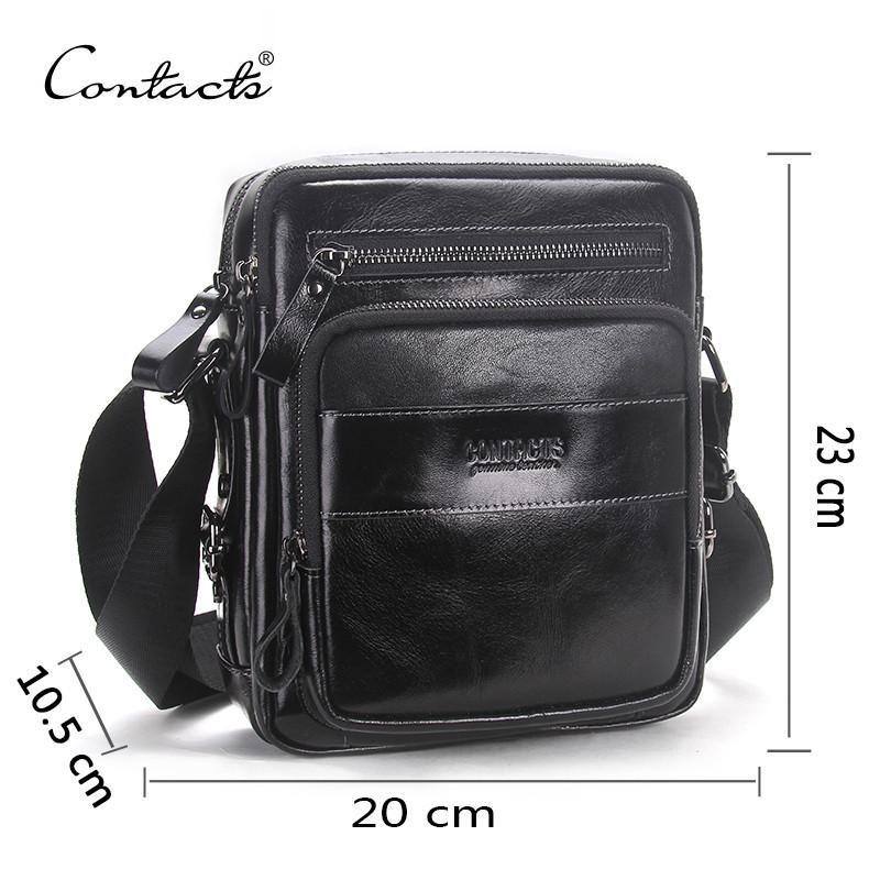 dff99a7fb483 Genuine Leather Bag Business Style Men s Bags Small Shoulder Messenger  Crossbody Bags Men s Leather Bag Men Handbag