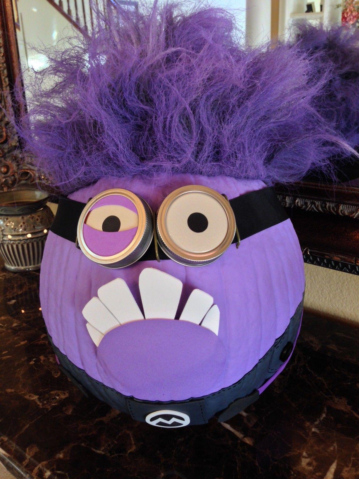 evil minion no carve pumpkin love the one eye! pumpkin ideasevil minion no carve pumpkin love the one eye!