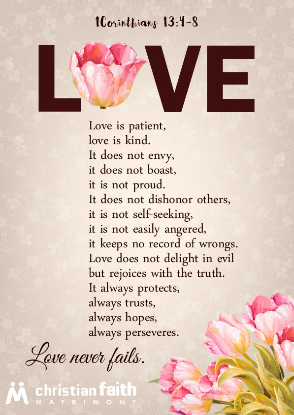 1 Corinthians 13 Free Love Printable From Christianfaithmatrimony