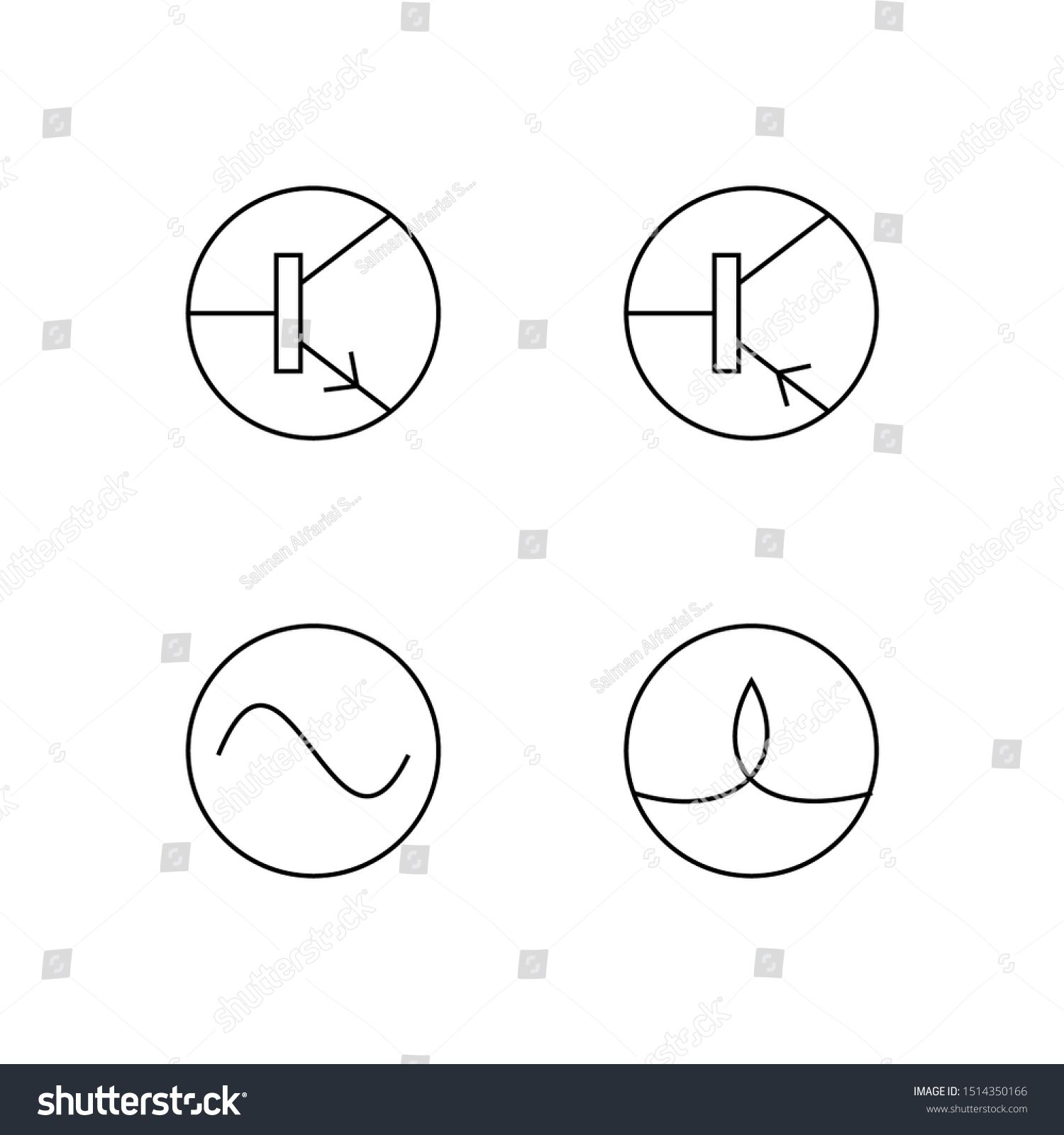 Set Of Electronic Symbol Line Icon Design Electronic Sign Vector Such As Lamp Battery Diode Resistor Fuse An Ad In 2020 Electronic Signs Logo Icons Icon Design