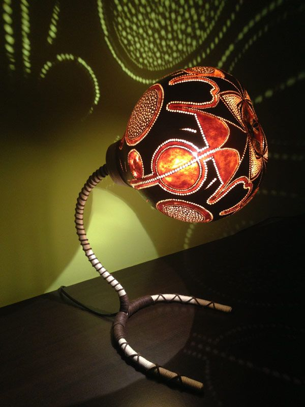 Nice Original Lampshade Design Inspired By Exotic African Fruits: Gourd Lamp Photo Gallery