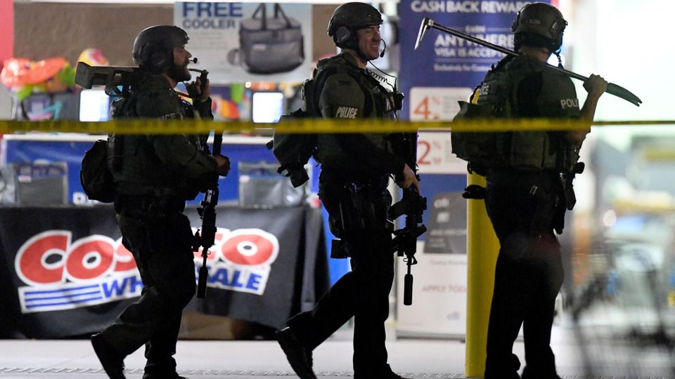 Officer Off Duty Lapd Officer Attacked While Holding Child In Costco Fatally Shoots Man According To Corona Police An Police Activities Police Offer Police