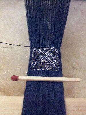 blue silk brocade tablet woven by Olive | brettchenweben | Pinterest ...