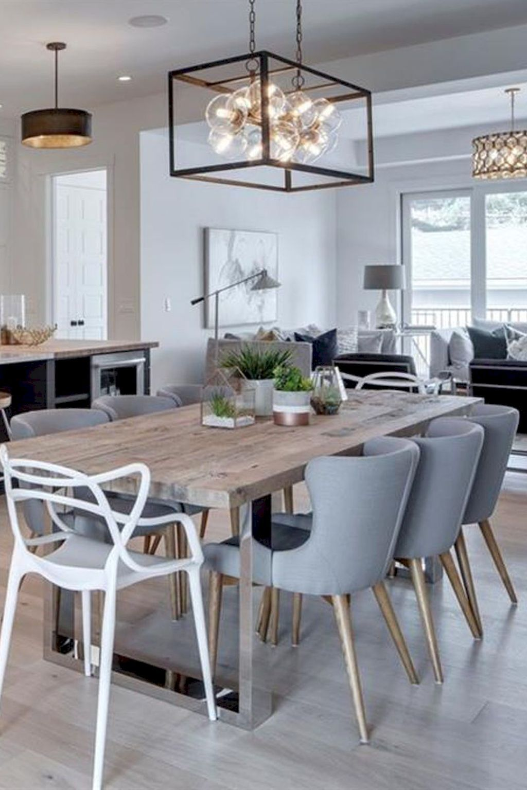 80 Beautiful Farmhouse Dining Room Table Design Ideas Modern