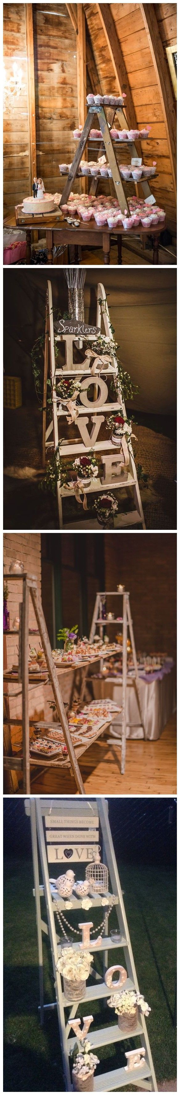 Wedding decorations country   Rustic Country Wedding Decoration Ideas with Ladders  Rustic