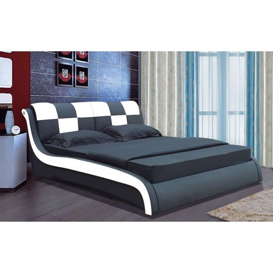 Italian Bed Designs Modern Designer Italian Black And White Faux Leather Bed  Stuff .