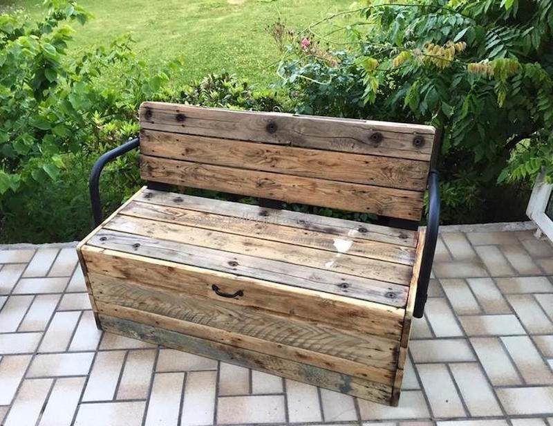 Faire un banc en palette de bois et le décorer soi-même- les top - construire sa terrasse en bois soimeme