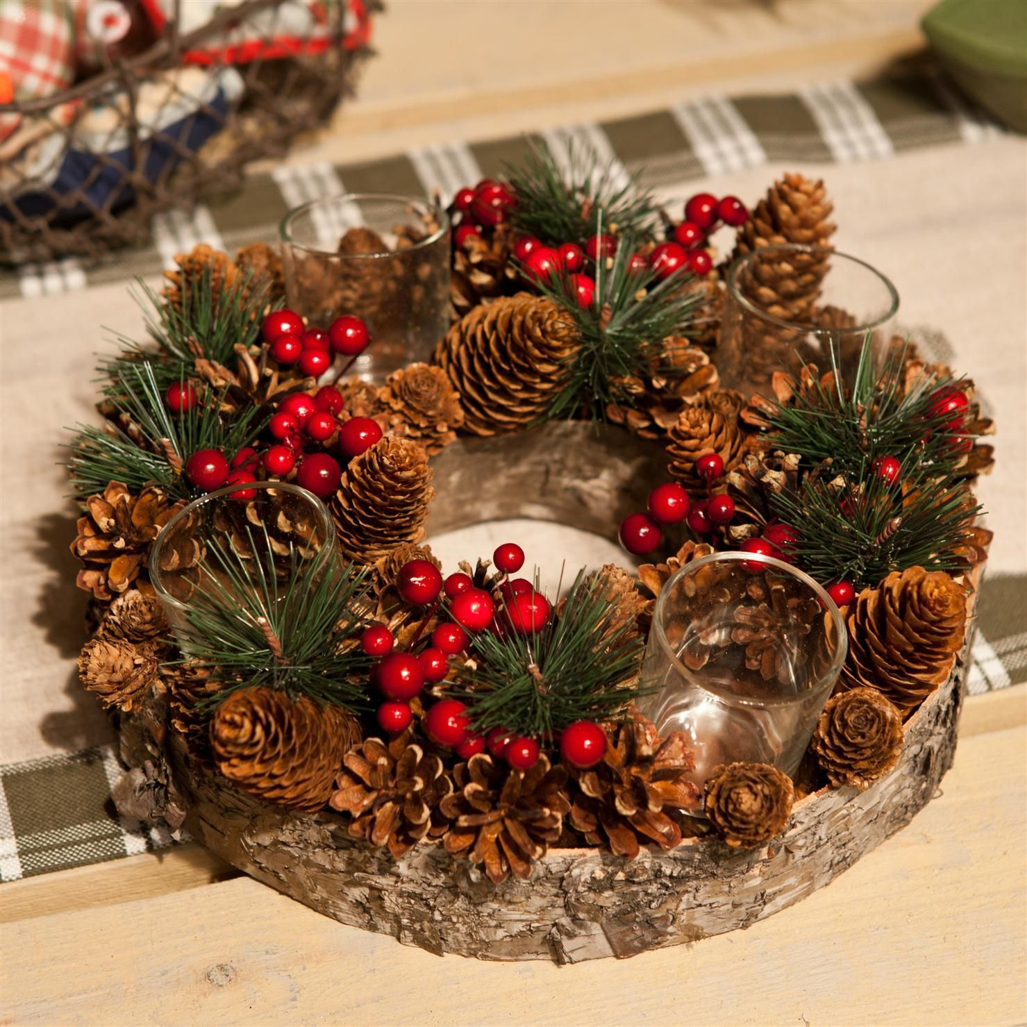 Soporte para velas de gisela graham motivos navide os achica navidad xmas navidad - Soporte para velas ...