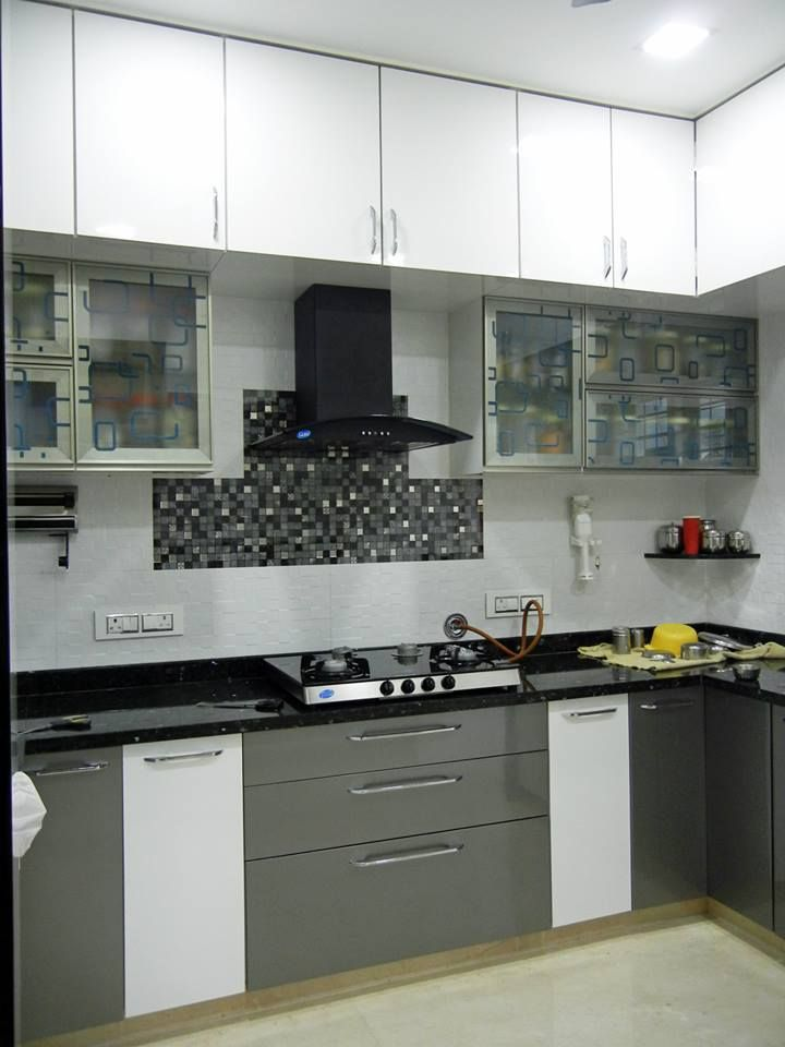 3bhk apartment interiors by suniti modern kitchen