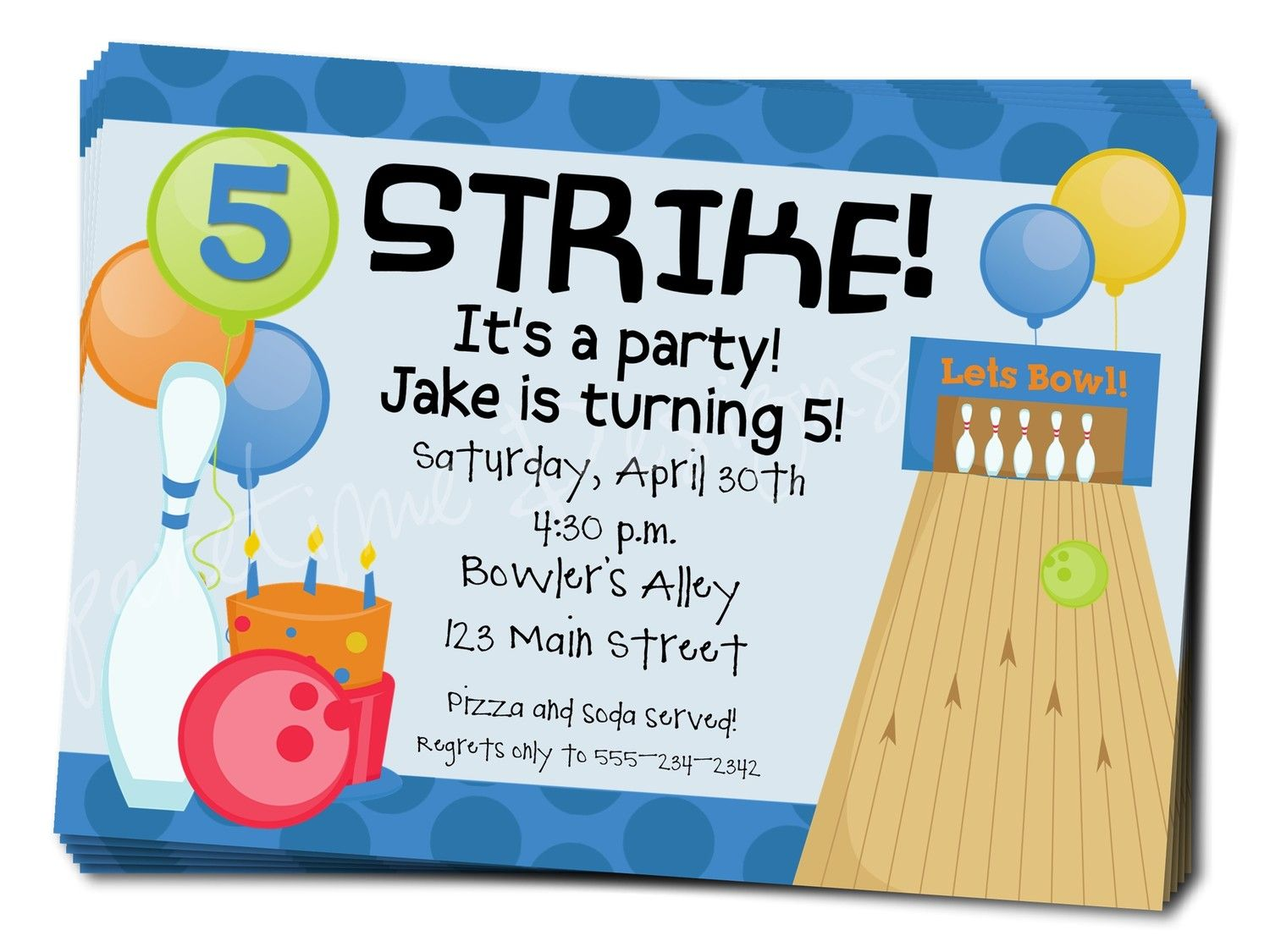Awesome Free Template Free Bowling Birthday Party Invitations Bowling Party Invitations Birthday Party Invitation Wording Party Invite Template