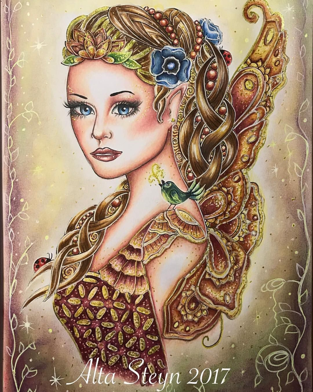 117 Likes 9 Comments Alta Steyn Alta Steyn On Instagram Title Jasmine By Alta Steyn Cb Messages From The Fairies By Doreen Virtue Ilustrations By No