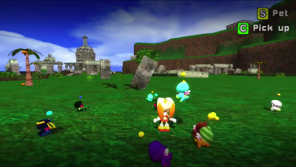 Sonic World 6 (fan-made game) and their new chao garden
