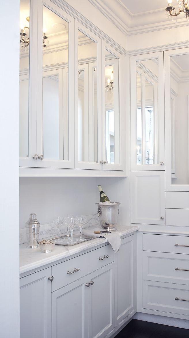 Leo Designs Chicago Kitchen Mirror Mirrored Kitchen Cabinet
