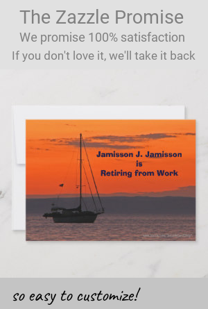 Retirement Announcement Sailboat at Sunset |  Retirement Announcement Sailboat at Sunset