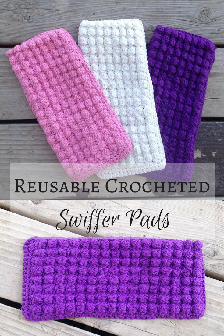 Reusable Crocheted Swiffer Pads Crocheted Cleaning Swiffer