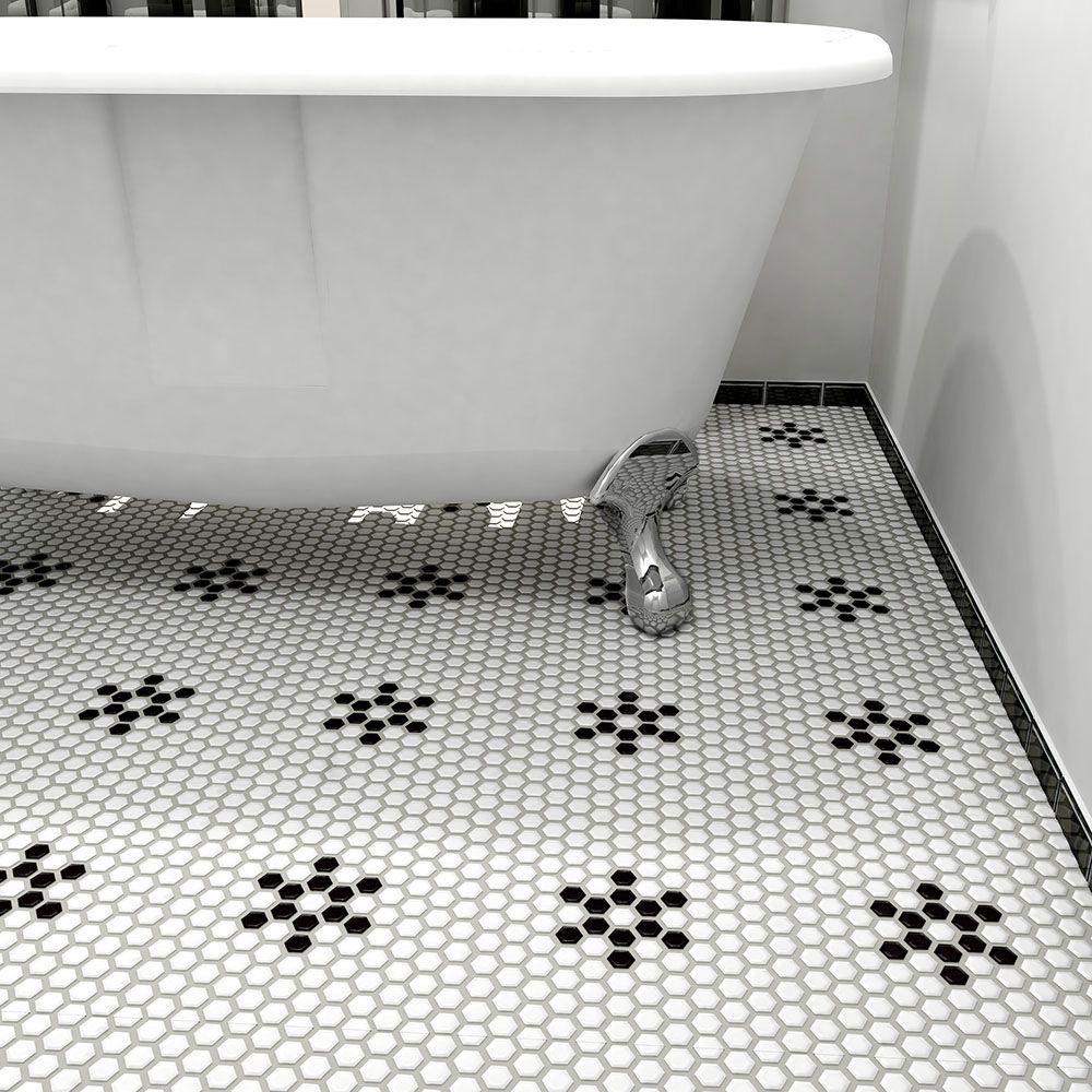 Impressive Floor Remodeling Hexagon Floor Tile Black And White Hexagon Mosaic Floor Tiles Beautiful Hexagon Mosaic Flooring Porcelain Mosaic Mosaic Floor Tile