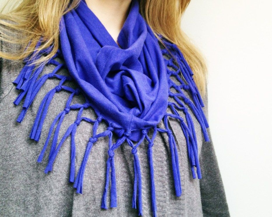 Diy tshirt scarves roundup of tutorials and