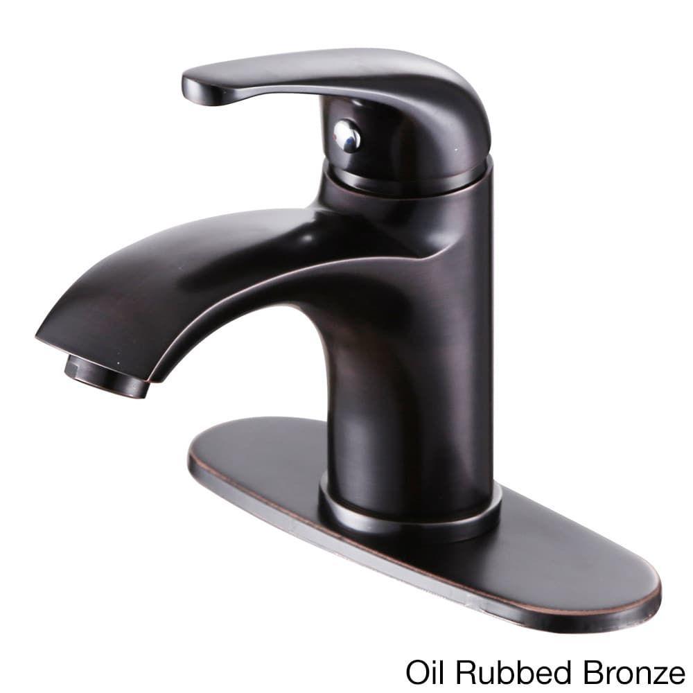 Elite Luxury Short Single-handle Bathroom Faucet and Cover Deck ...