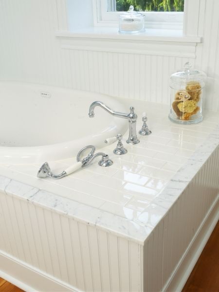 Custom Marble Edging Was Used And Installed To Provide A Perfect