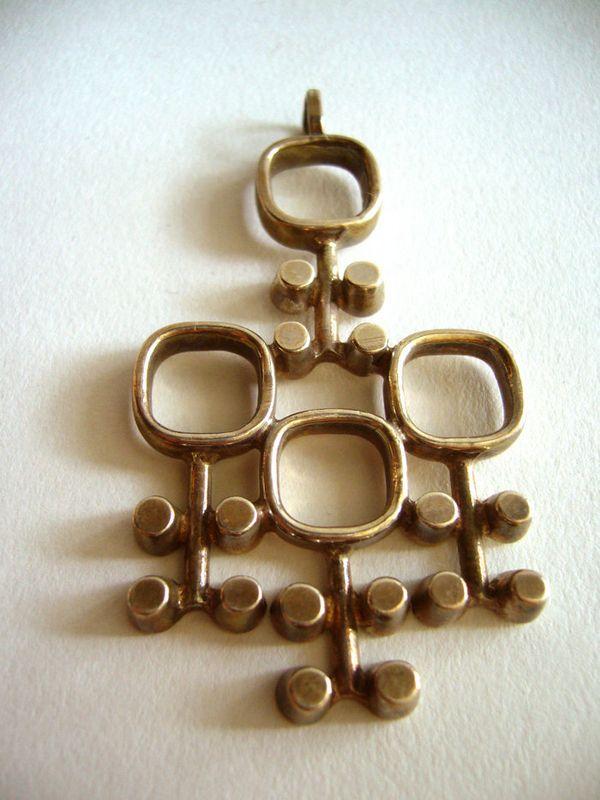 Mid Century Scandinavian Pendant Scandinavian Jewelry Mid Century Modern Jewelry Modernist Jewelry