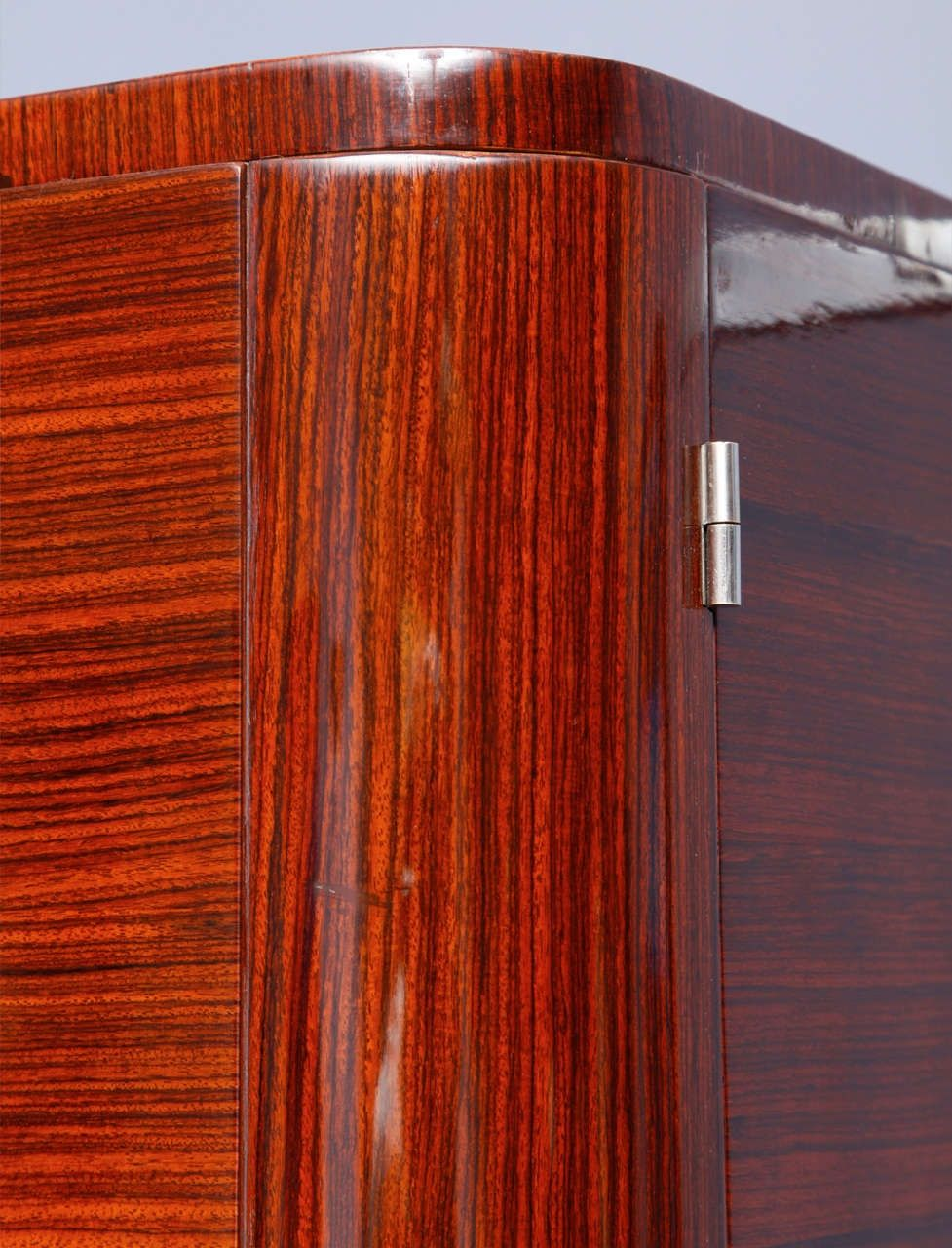 Rosewood veneered art deco wardrobe  Indian rosewood  lustrous hand made  French polish. Rosewood veneered art deco wardrobe  Indian rosewood  lustrous